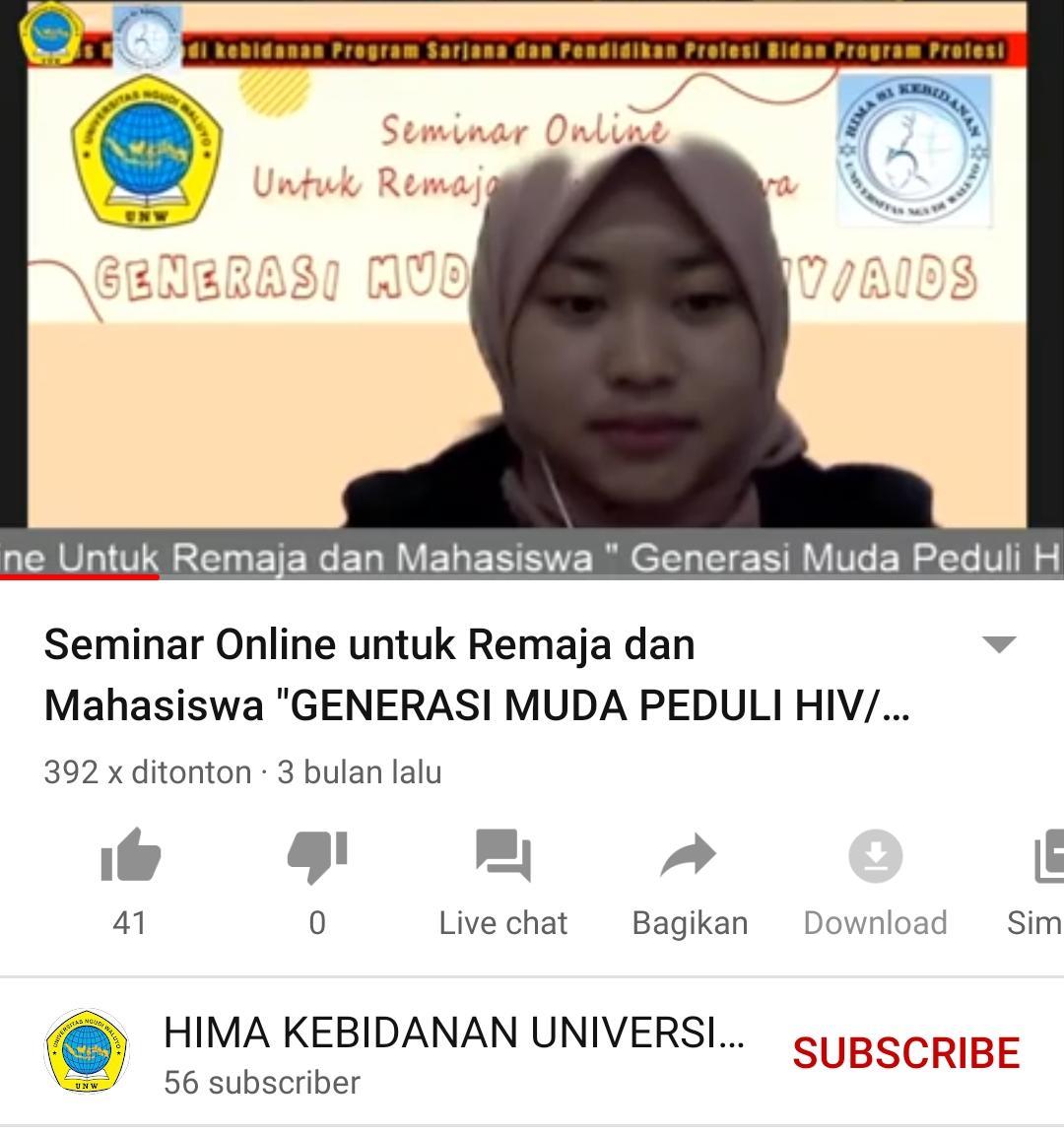 Seminar online Hima Remaja Peduli HIV AIDS